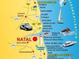 mapa do litoral do Rio Grande do Norte