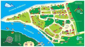 Mapa Caraiva Porto Seguro - BA
